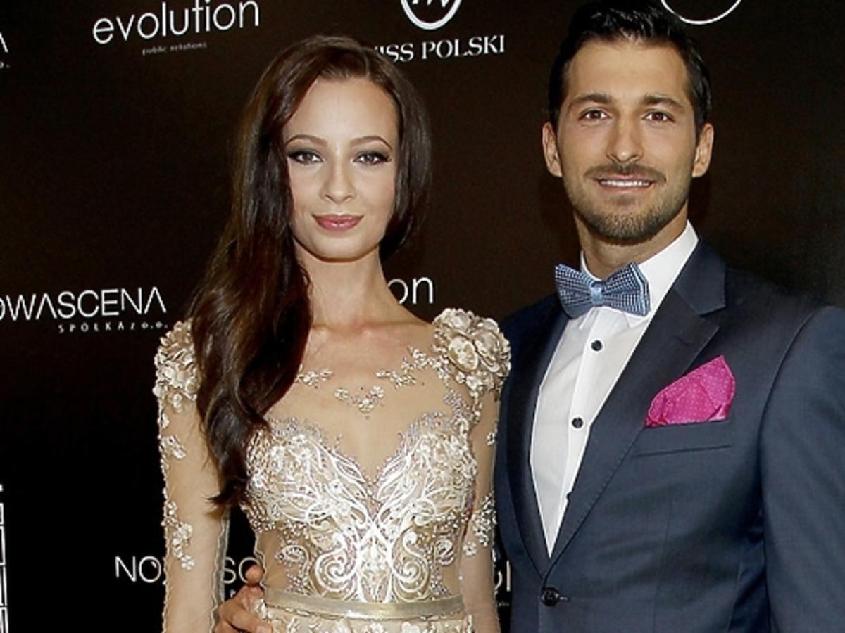 Rafał Maslak i Ada Sztajerowska na konferencji Miss i Mister International