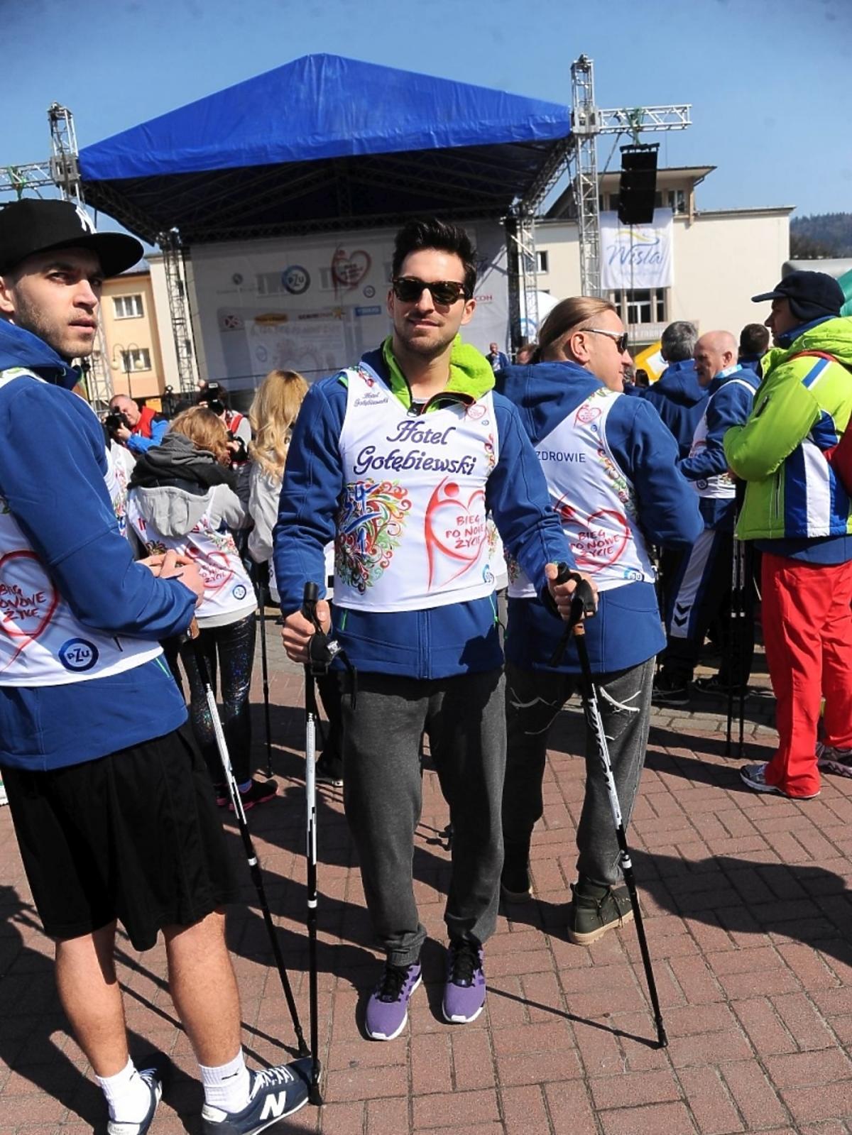 Rafał Maślak na charytatywnym biegu