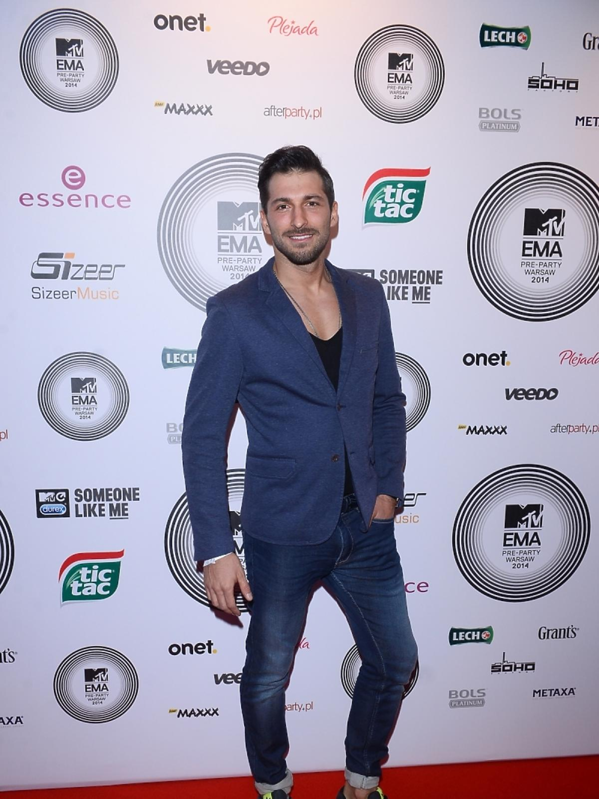 Rafał Maślak na MTV EMA Pre-Party 2014