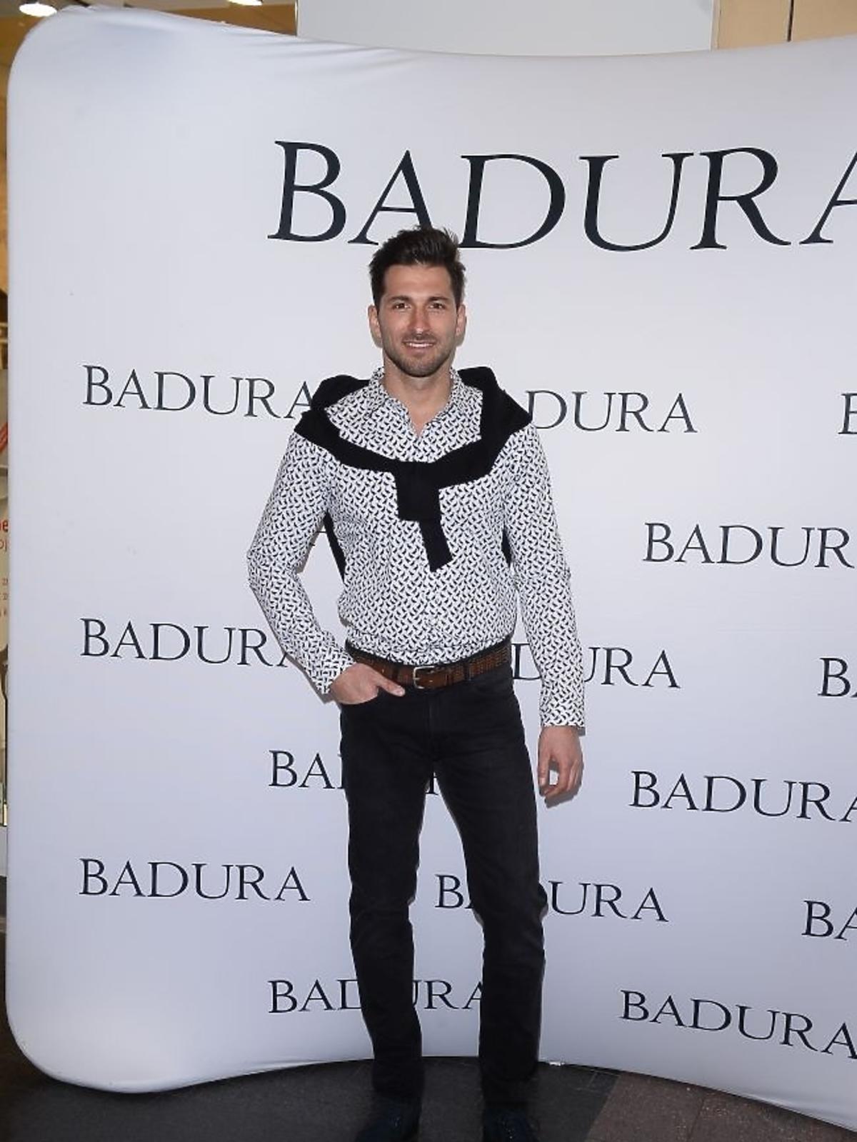 Rafał Maślak na prezentacji marki Badura