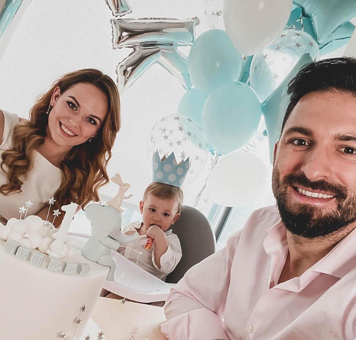 Rafał Maślak świętuje roczek syna