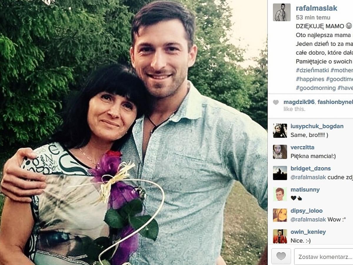 Rafał Maślak złożył życzenia swojej mamie