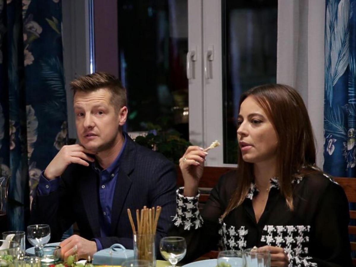 Rafał Mroczek i Anna Mucha na planie M jak miłość