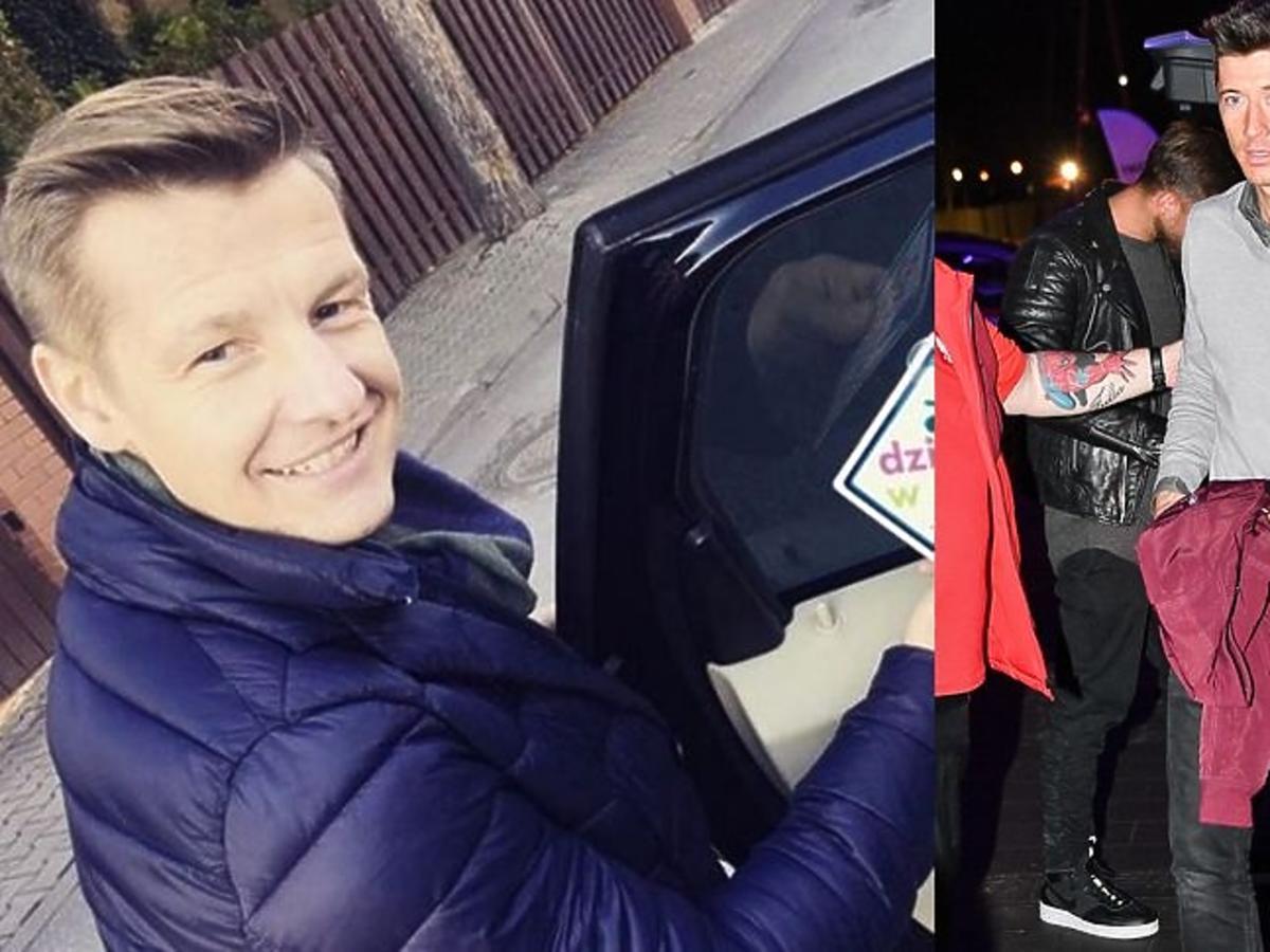 Rafał Mroczek na spotkaniu z Robertem Lewandowskim