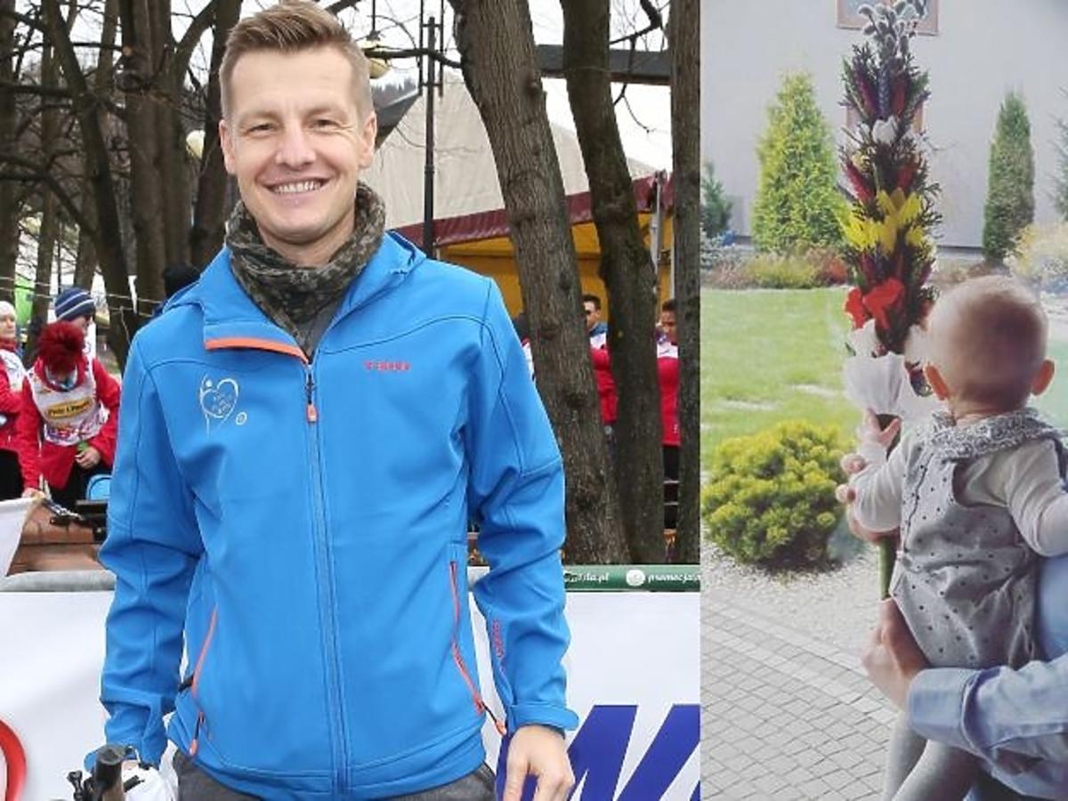 Rafał Mroczek w niebieskiej kurtce