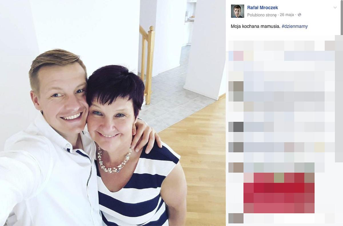 Rafał Mroczek z mamą