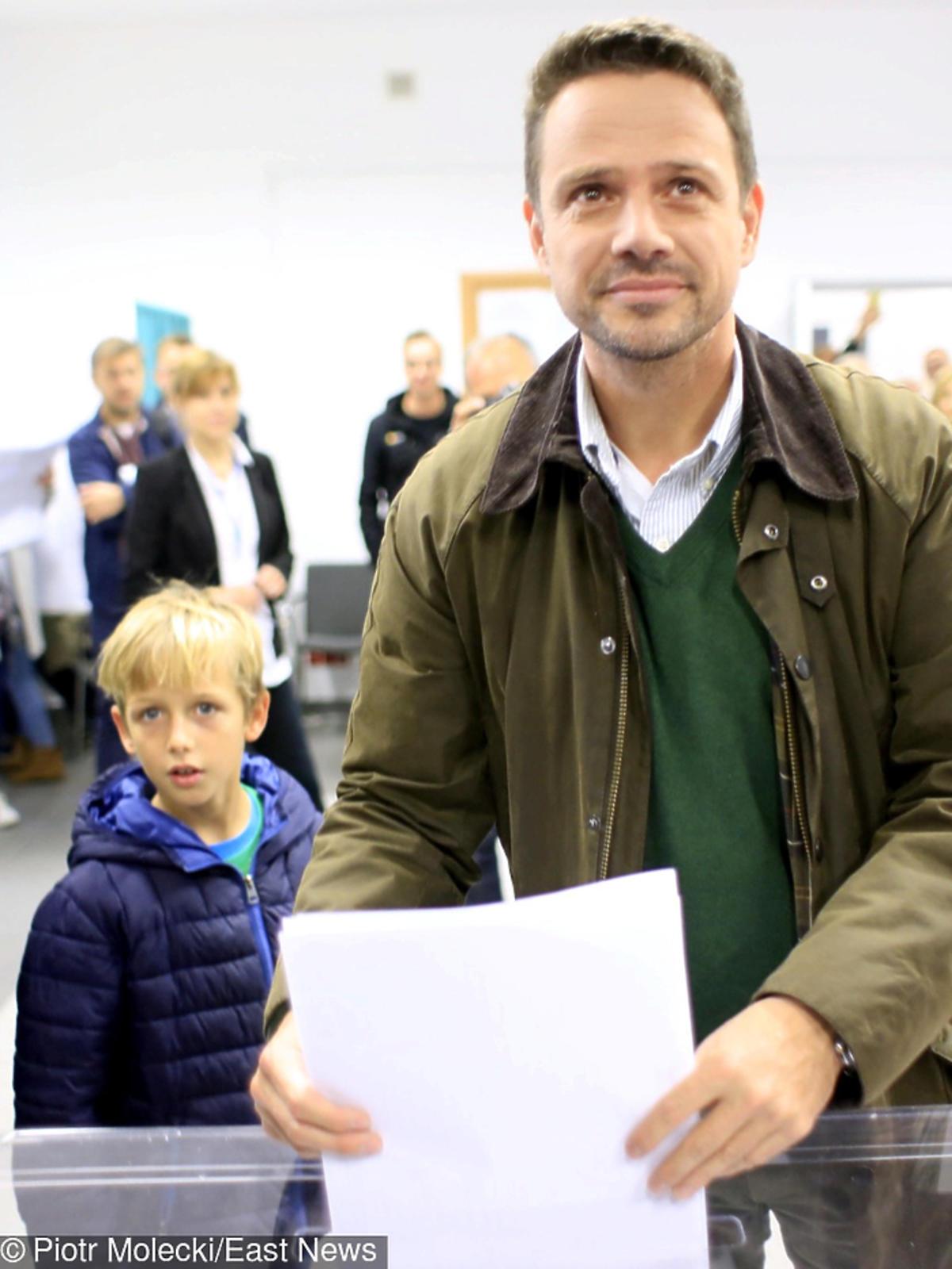 Rafał Trzaskowski z synem