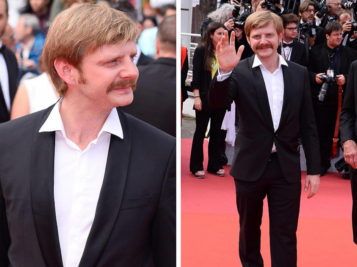 Rafał Zawierucha na premierze filmu Tarantino