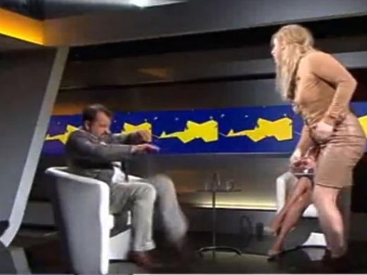 Rafalala w studiu Polsat News