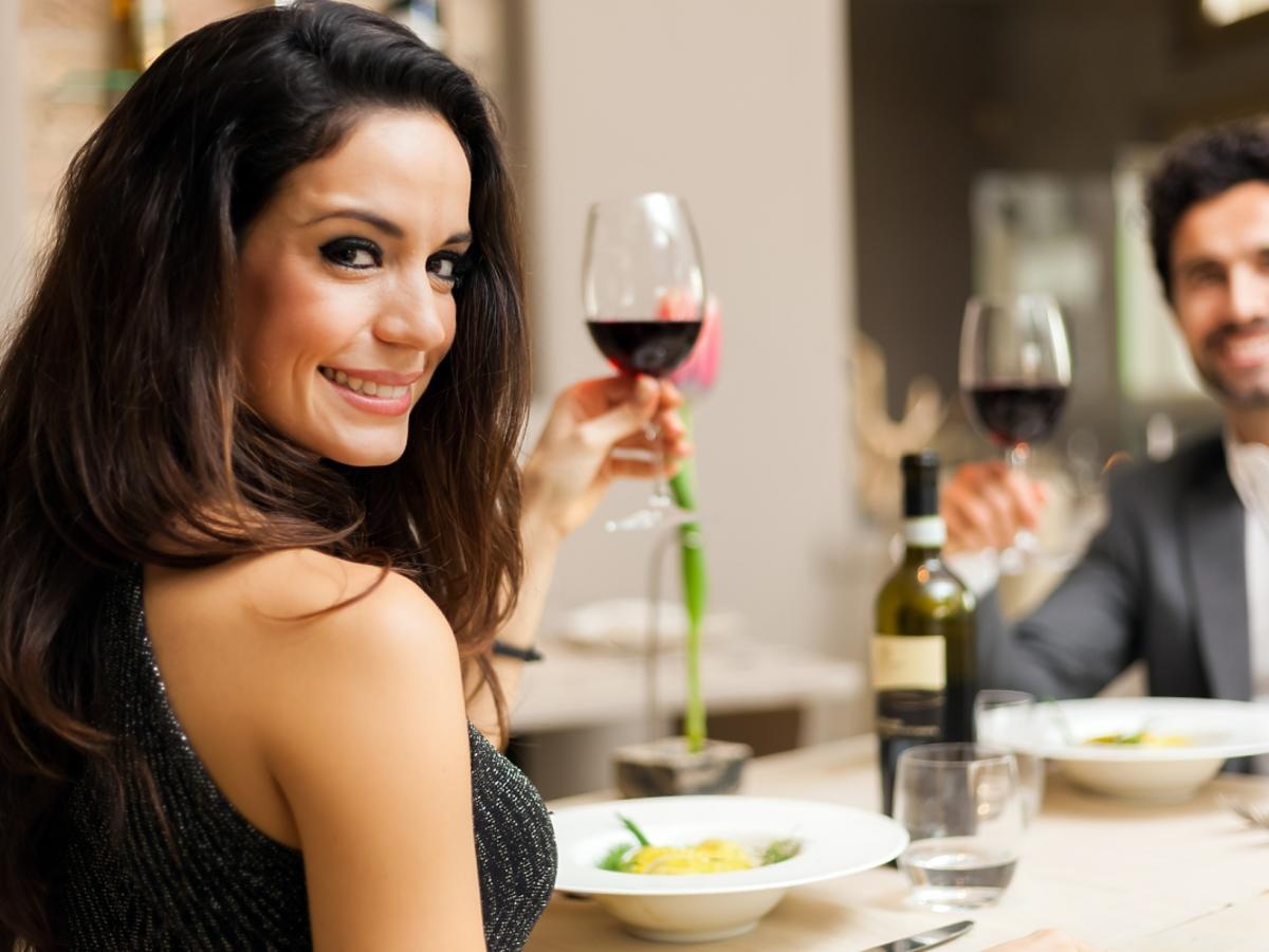randka w restauracji