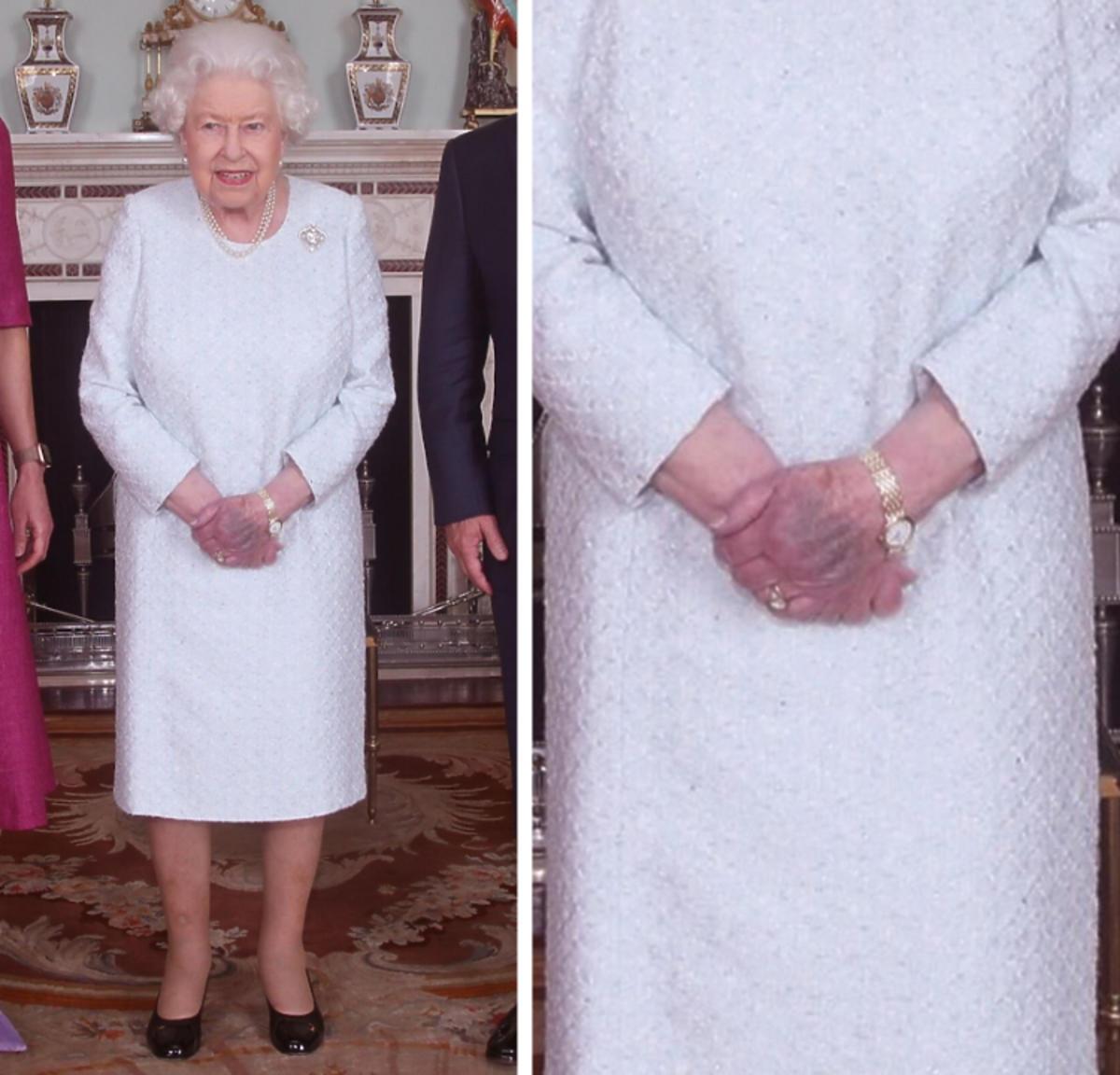 Ręce królowej Elżbiety II