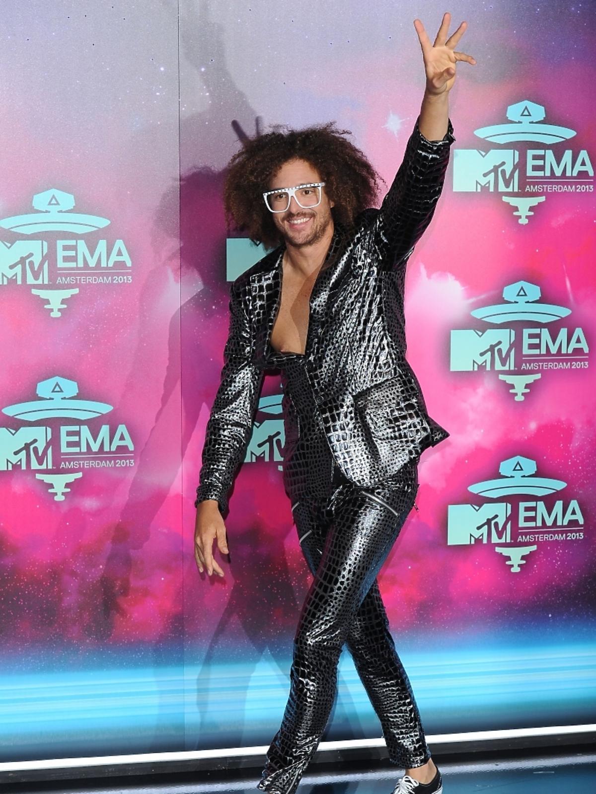 Red Foo z LMFAO na gali MTV EMA 2013 w Amsterdamie