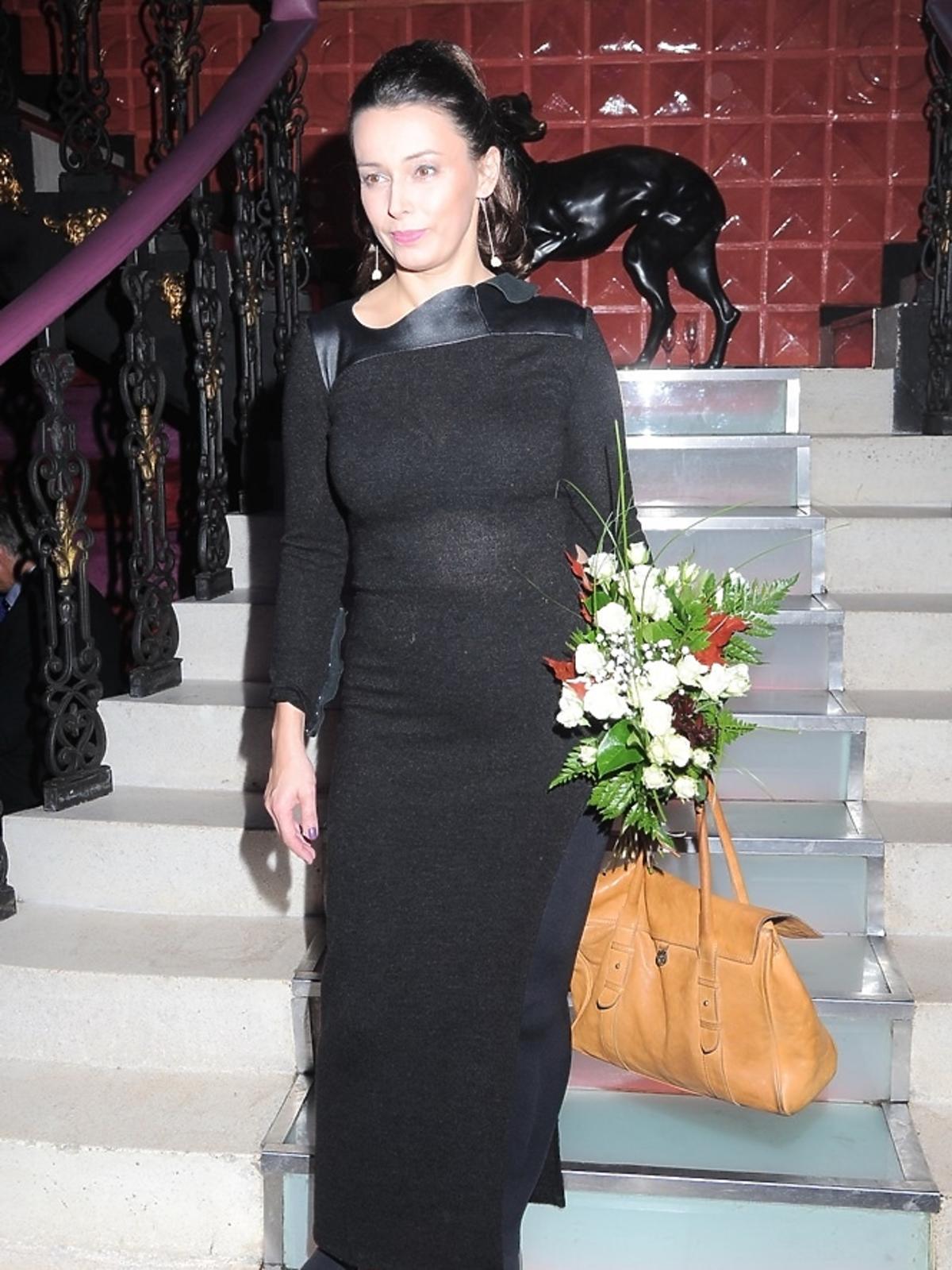 Renata Dancewicz na premierze spektaklu