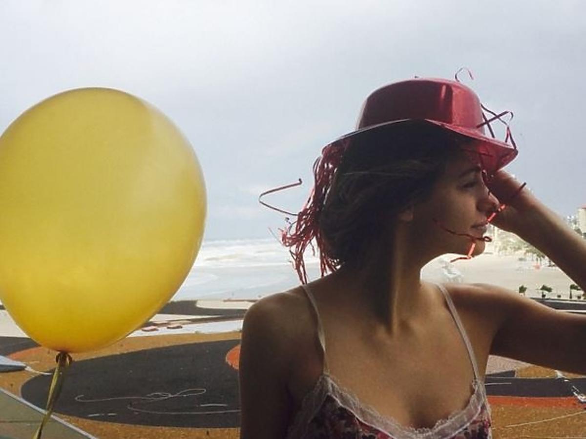 Renata Kaczoruk z balonem