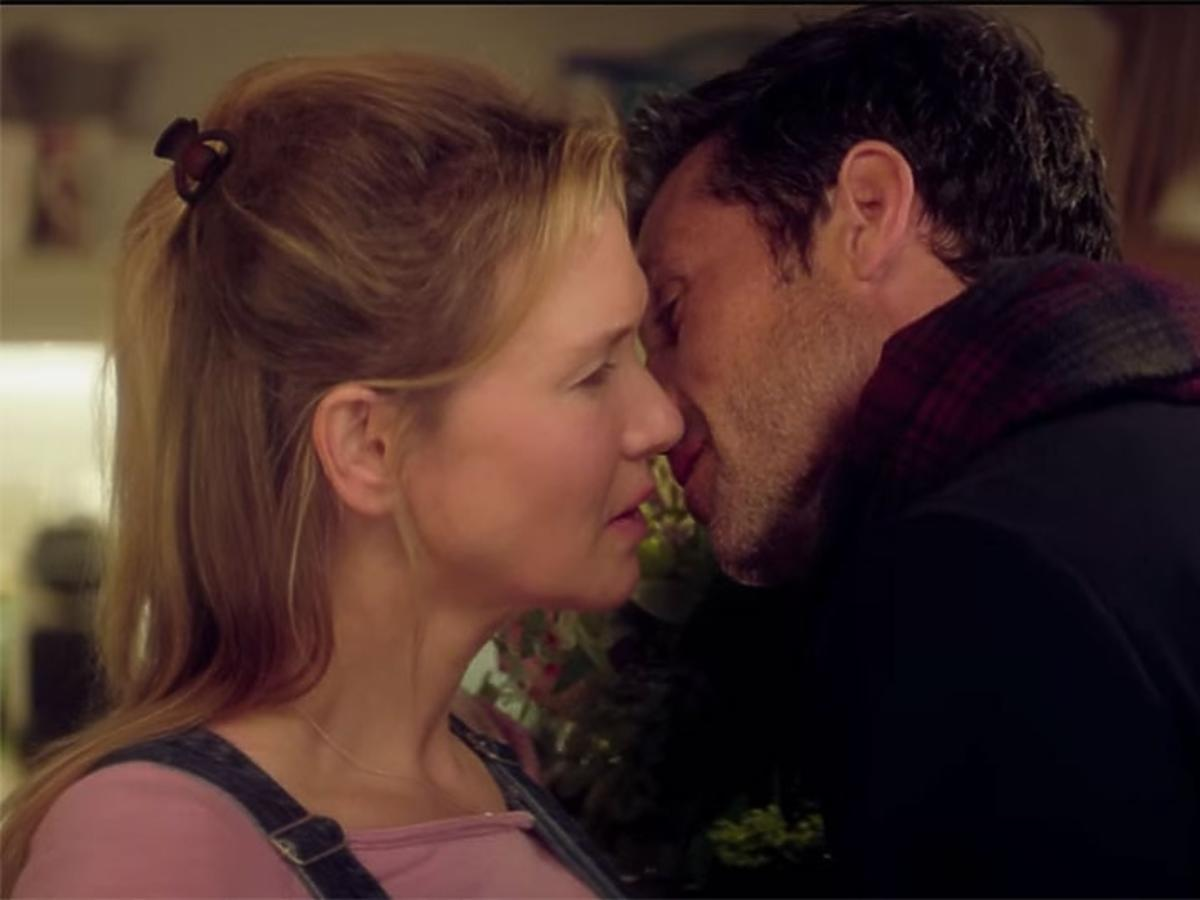 Renee Zellweger całuje się na planie Bridget Jones
