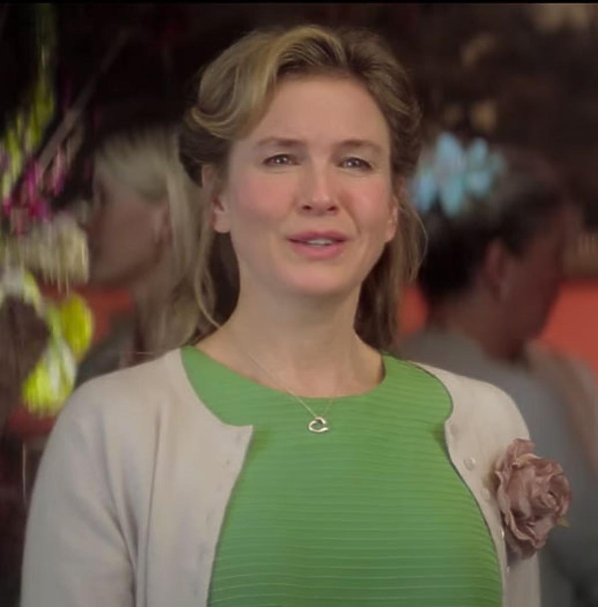 Renee Zellweger  w zielonym swetrze