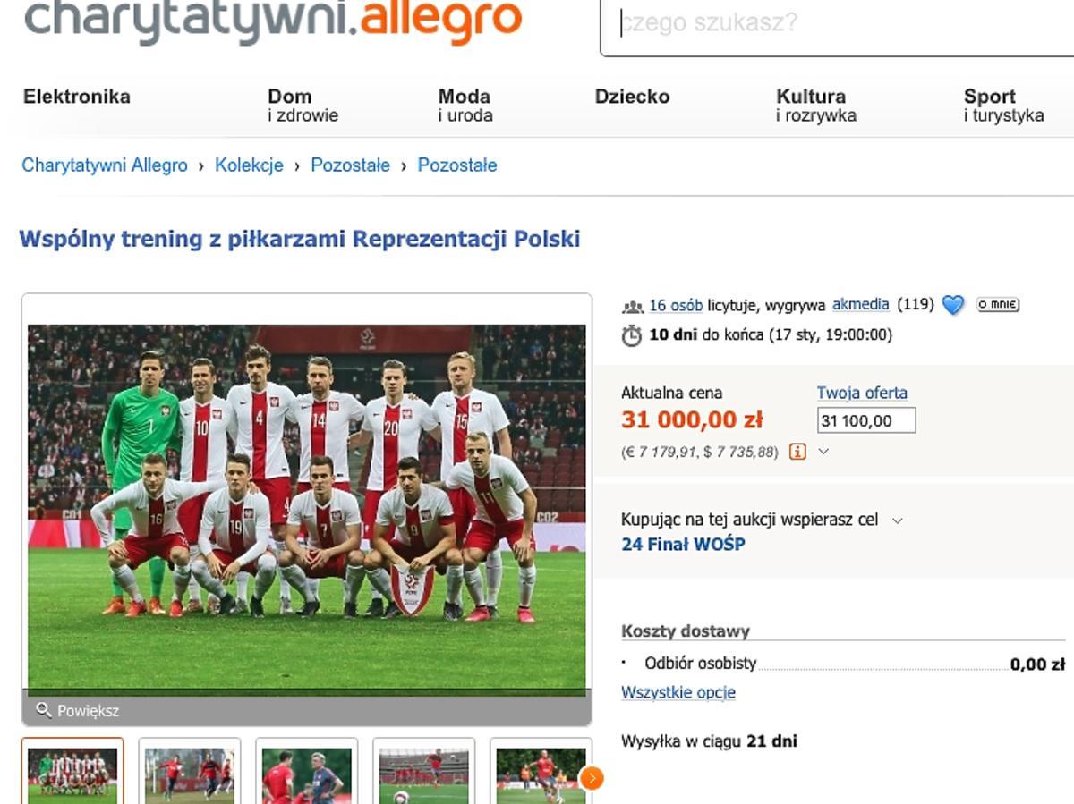 Reprezentacja Polski - do wybrania trening na WOŚP trening z reprezentacją
