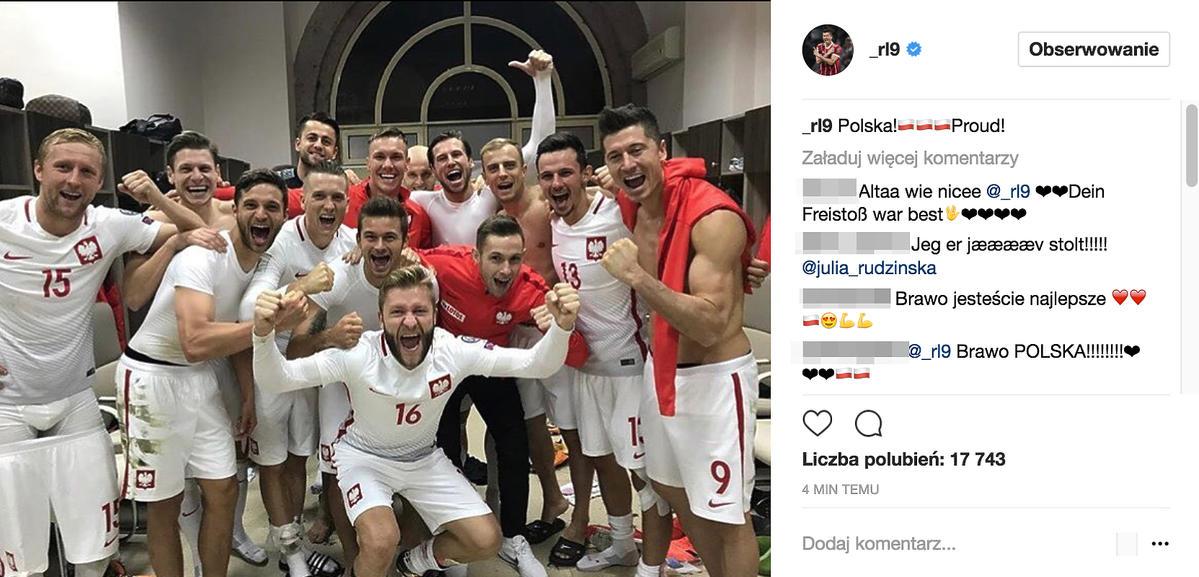 Reprezentacja Polski po meczu z Armenią