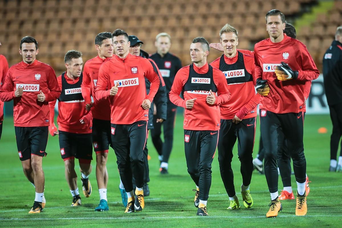 Reprezentacja Polski przed meczem z Armenią