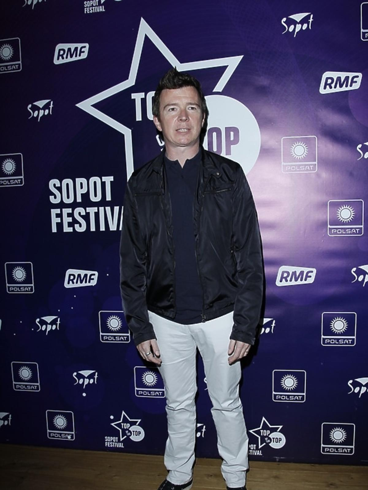 Rick Astley podczas konferencji Sopot Top of the Top Festival 2013