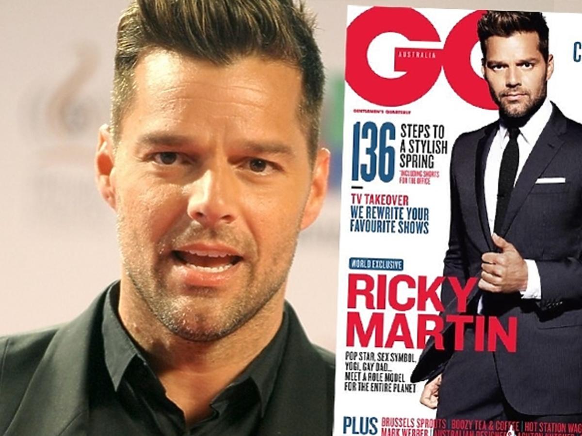 Ricky Martin był homofobem. Ricky Martin w GQ Australia