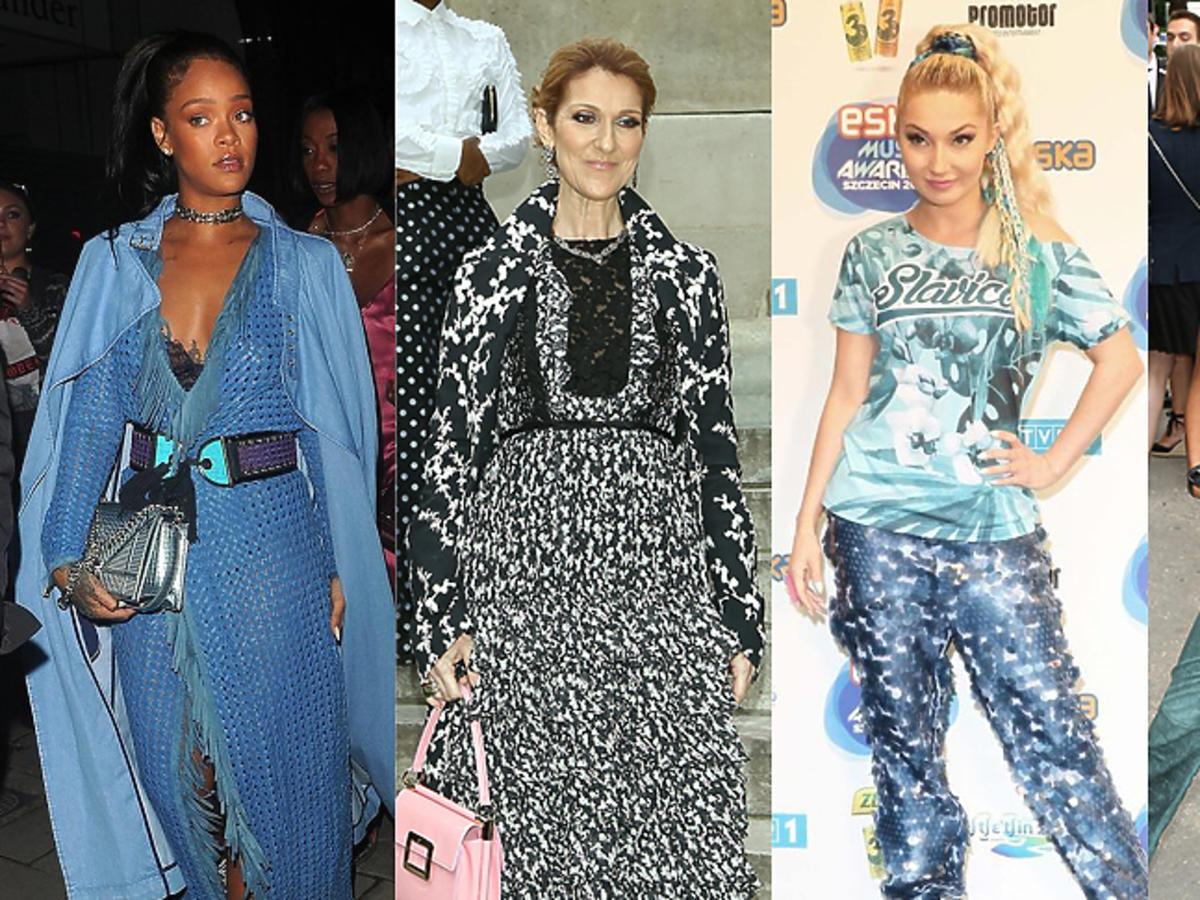 Rihanna, Celine Dion, Cleo, Willow Smith w brzydkich stylizacjach