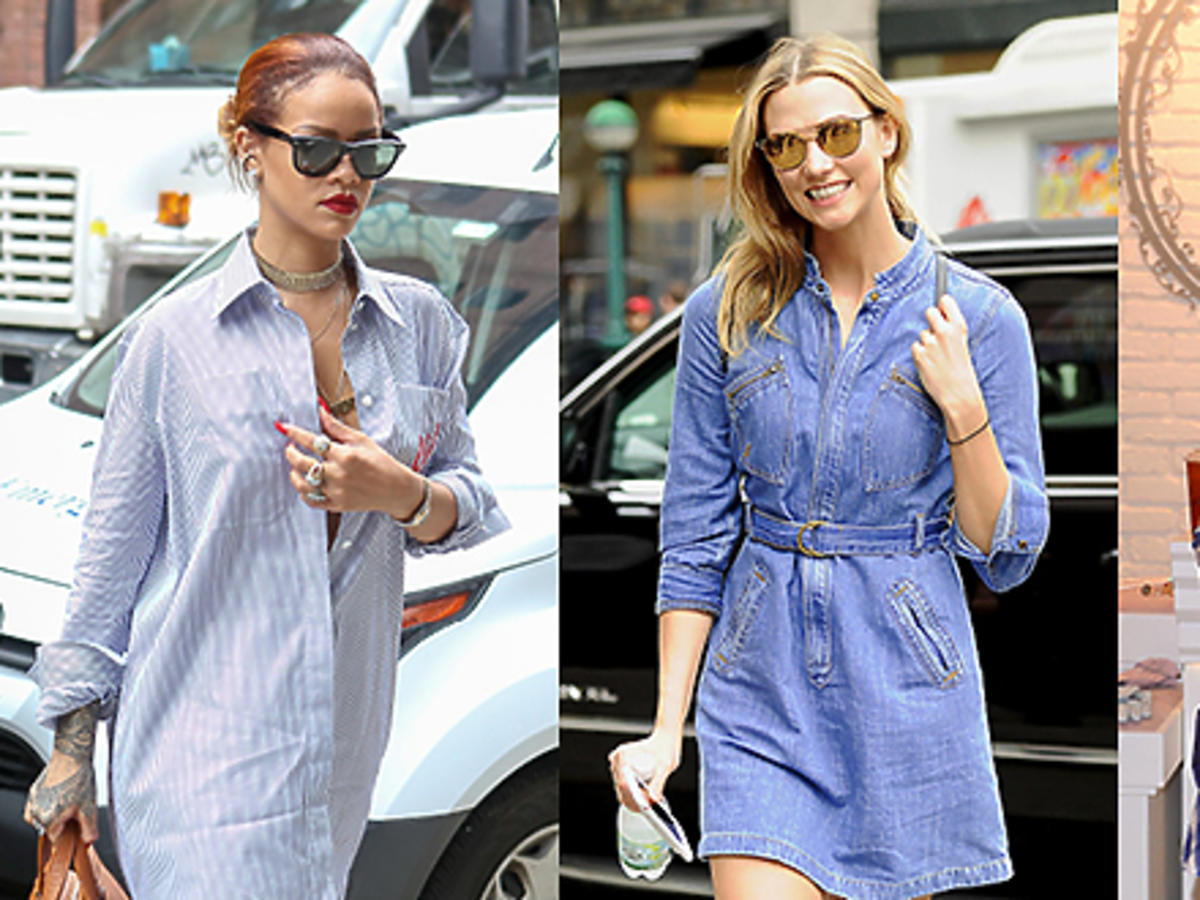 Rihanna, Karlie Kloss, Paulina Krupińska, Rita Ora w kolorowych letnich sukienkach