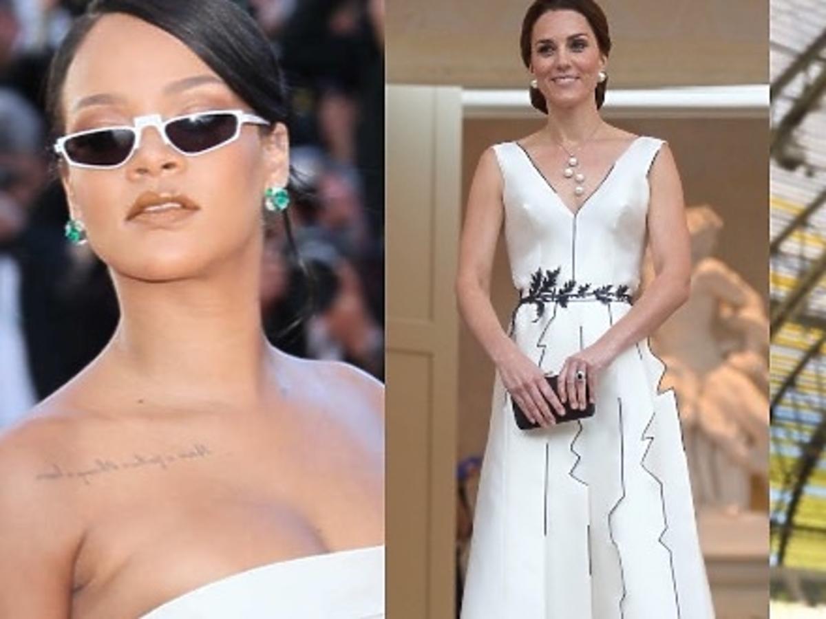 Rihanna w Cannes, księżna Kate w Warszawie, Doda w kozakach Saint Laurent, Joanna Horodyńska na imprezie Rafaello