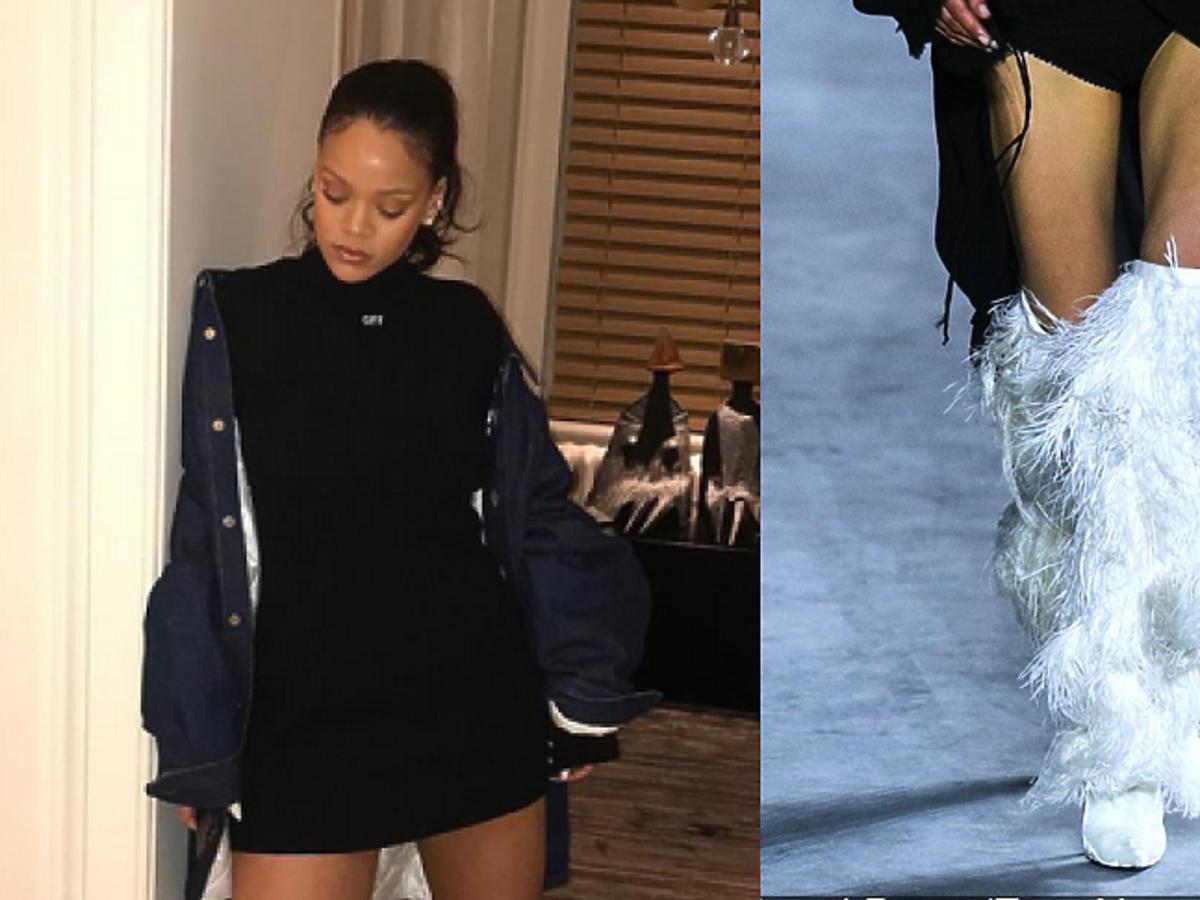 Rihanna w kozakach Yeti od Saint Laurent