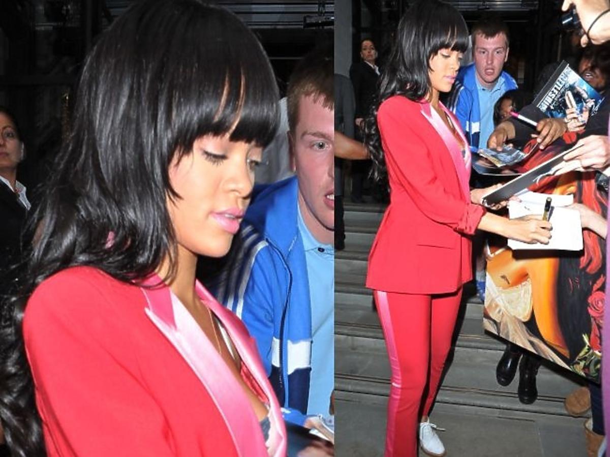 Rihanna w tłumie fanów