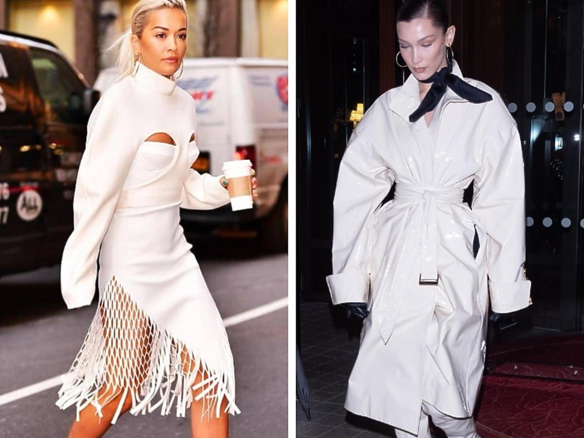 Rita Ora, Gigi Hadid w białych total lookach