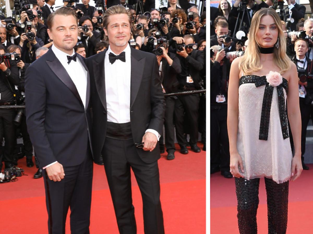 Robbie Margot Leonardo DiCaprio Brad Pitt
