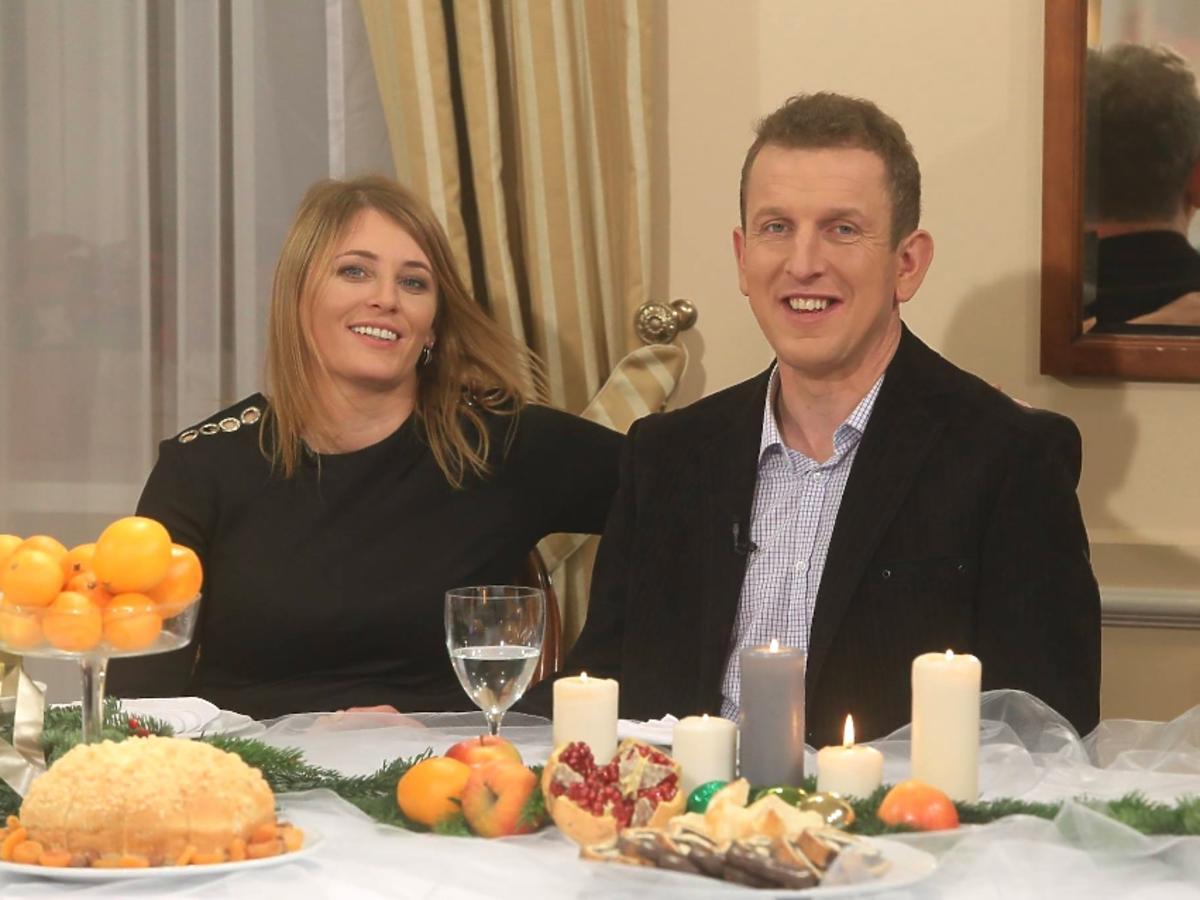 Robert i Agnieszka w czarnej sukience z Rolnik szuka żony