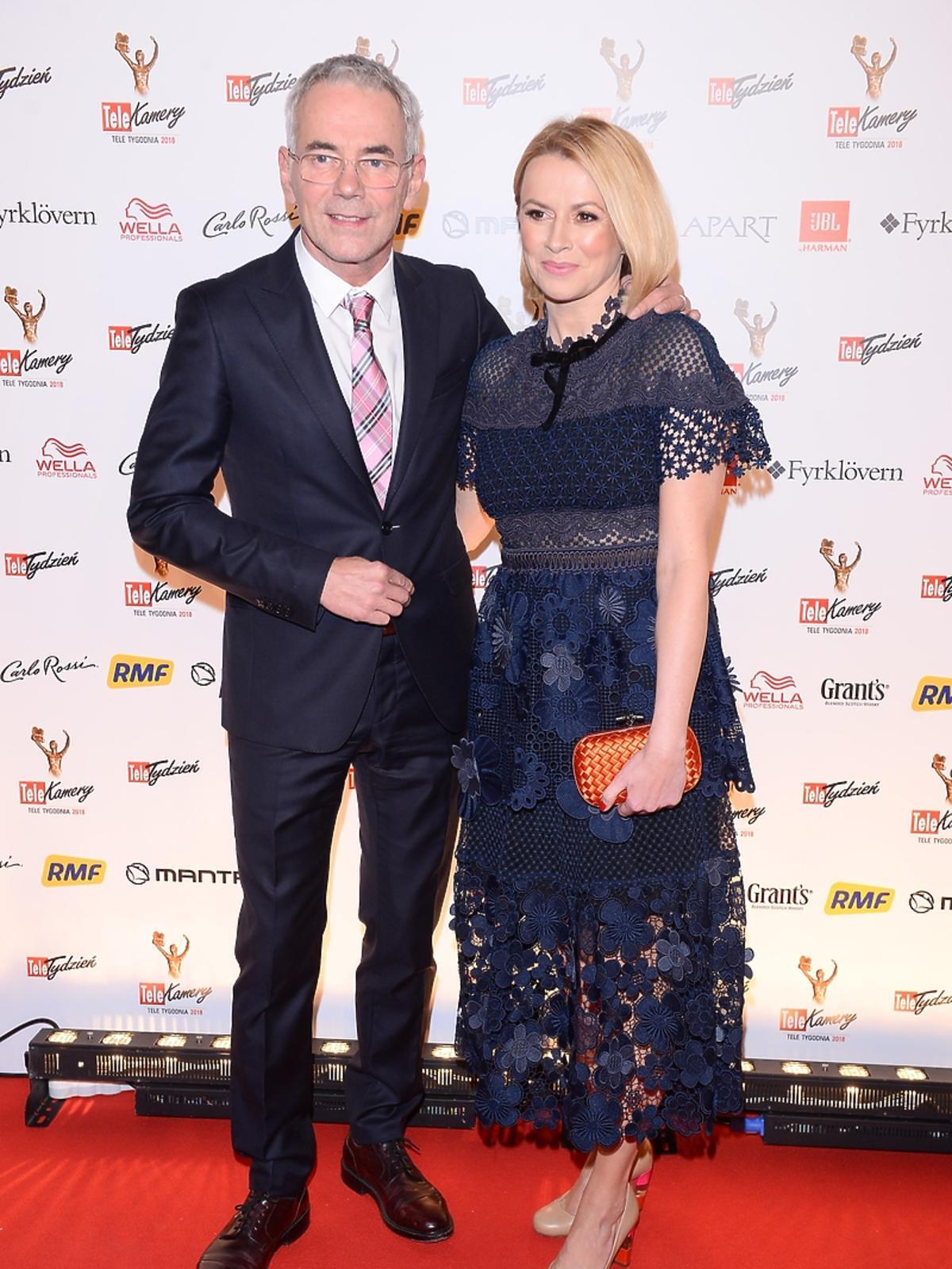 Robert Janowski z żoną na Telekamerach 2018