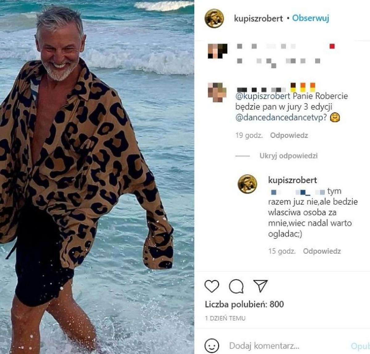 Robert Kupisz nie będzie już jurorem w Dance Dance Dance
