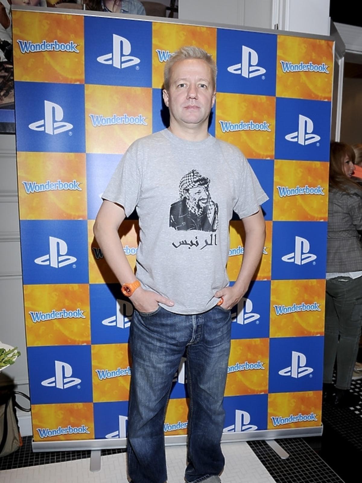 Robert Leszczyński na premierze PlayStation 3 - Wonderbook: Księga Czarów