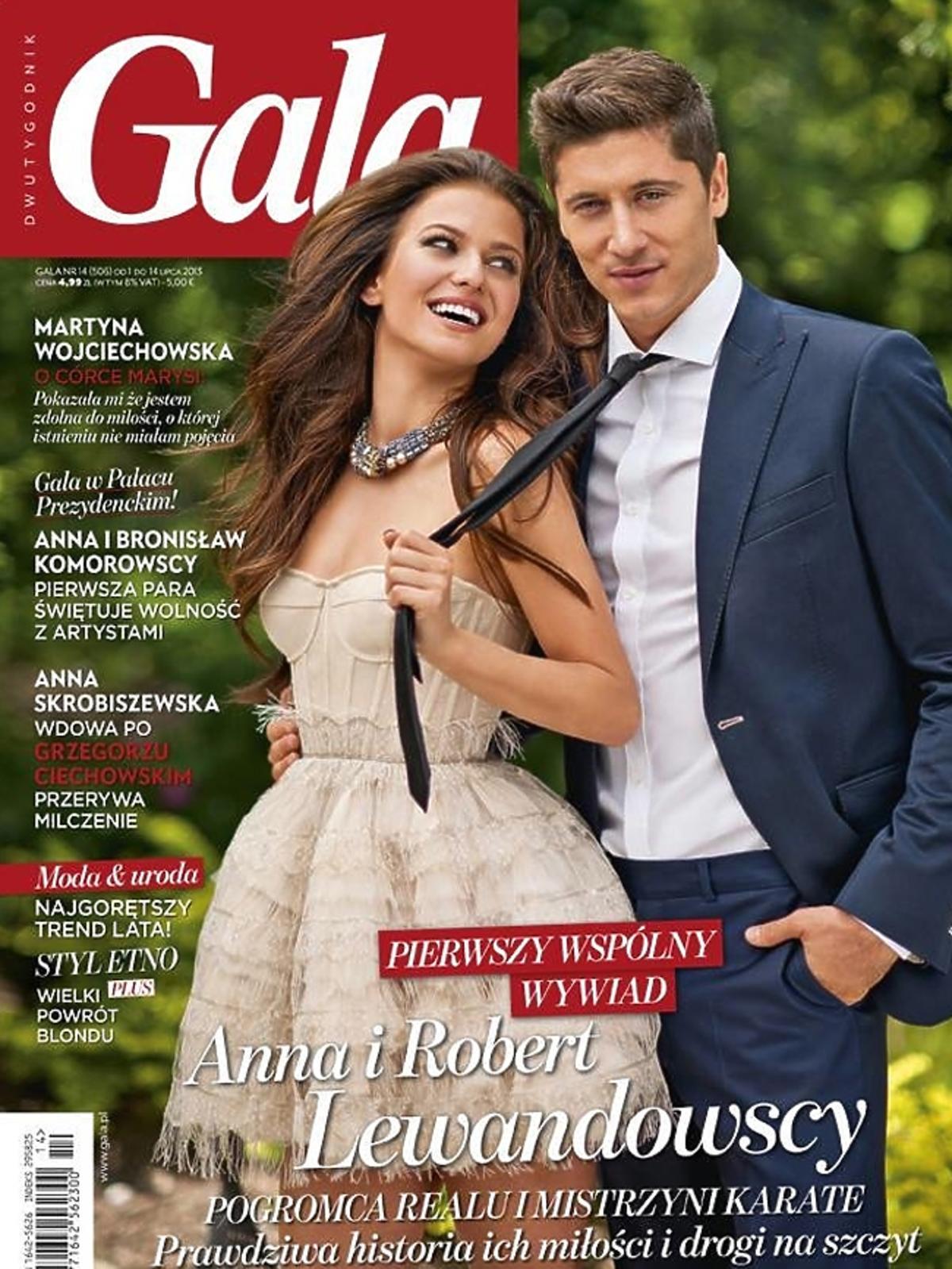 Robert Lewandowski i Anna Stachurska na okładce
