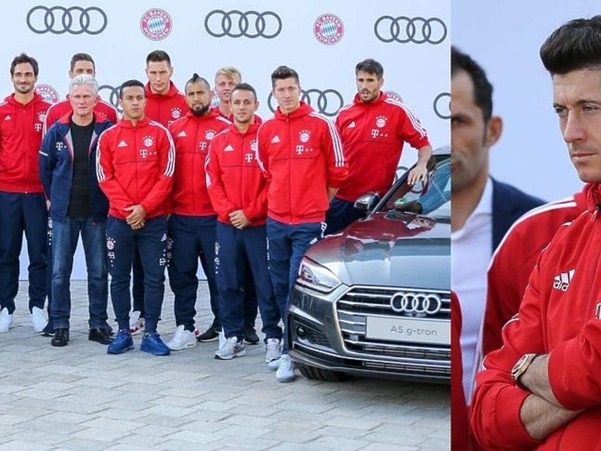Robert Lewandowski i jego koledzy z drużyny otrzymali nowe samochody od Audi