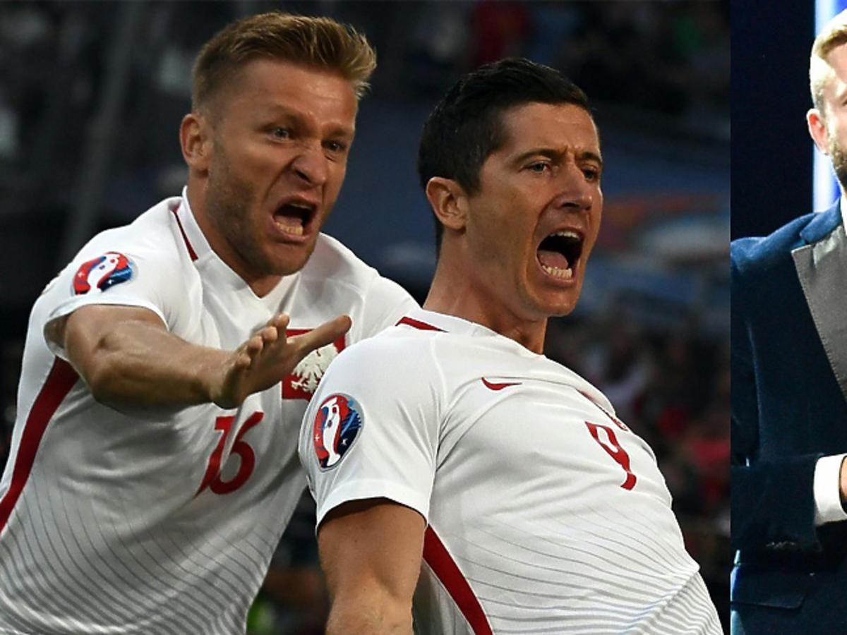 Robert Lewandowski i Kuba Błaszczykowski cieszą się z gola