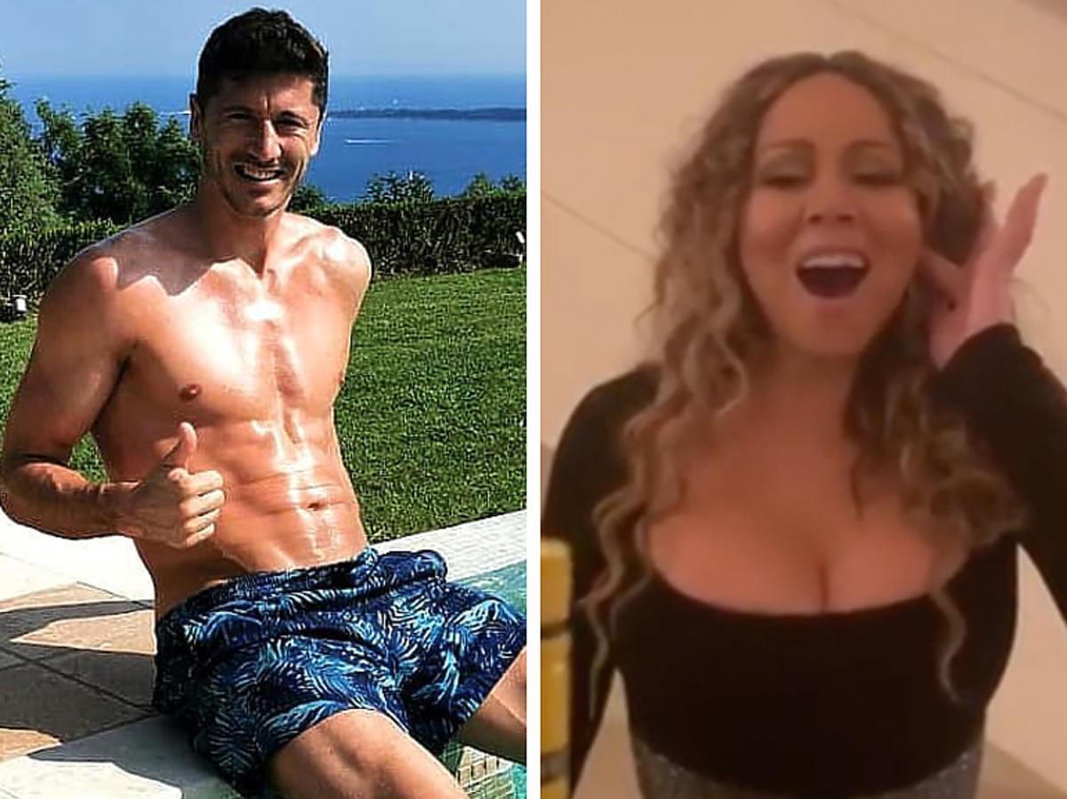 Robert Lewandowski i Mariah Carey na Instagramie