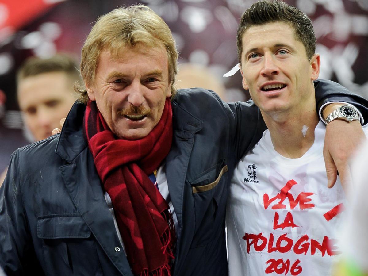Robert Lewandowski i Zbigniew Boniek na Stadionie Narodowym