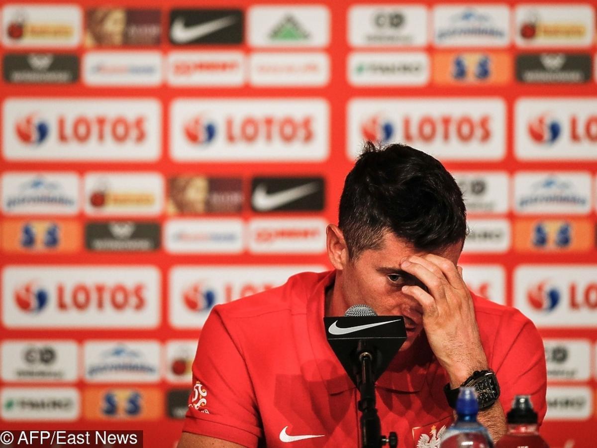 Robert Lewandowski na konferencji po przegranym meczu z Kolumbią