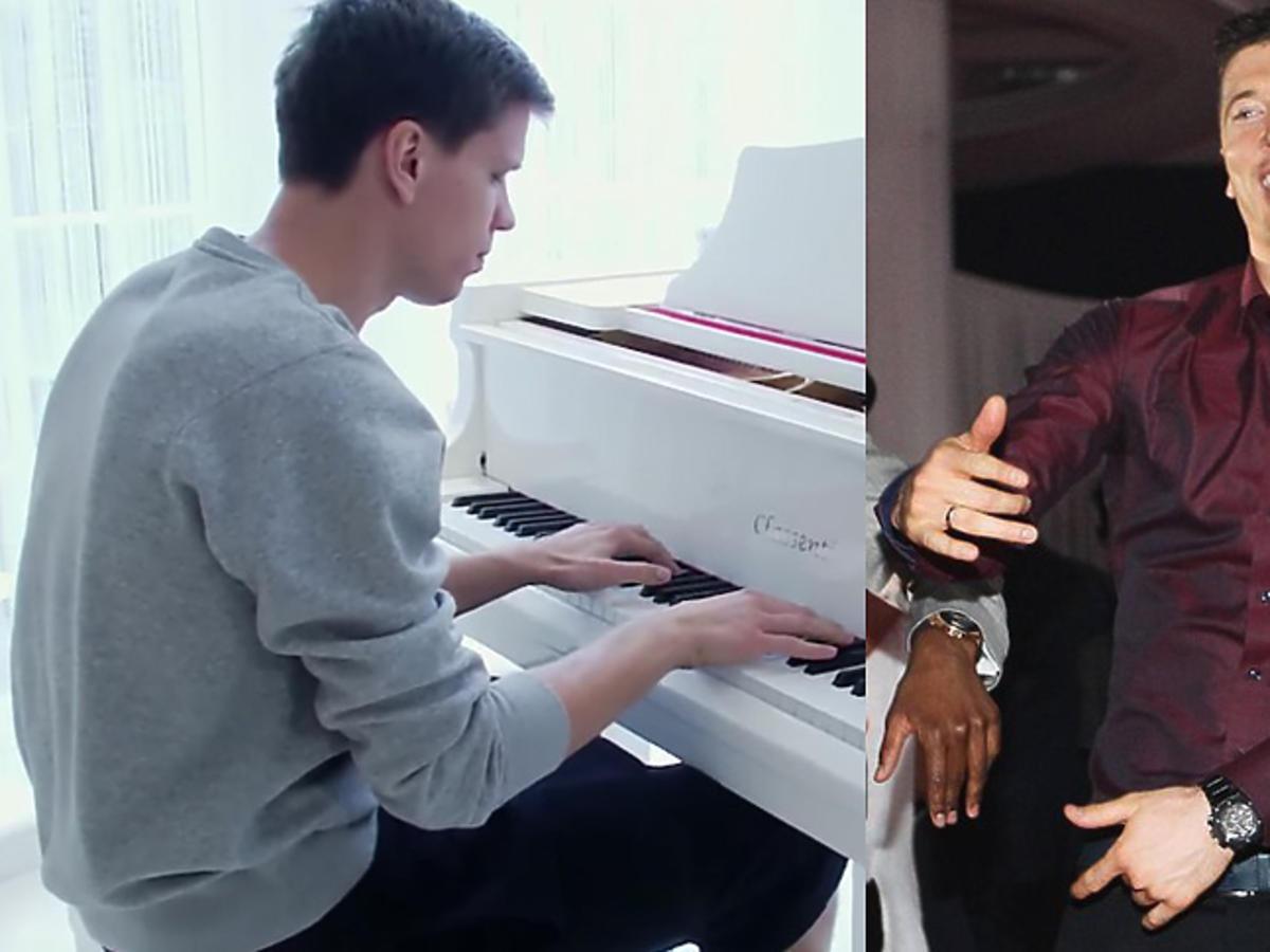 Robert Lewandowski tańczy, Wojciech Szczęsny gra na fortepianie