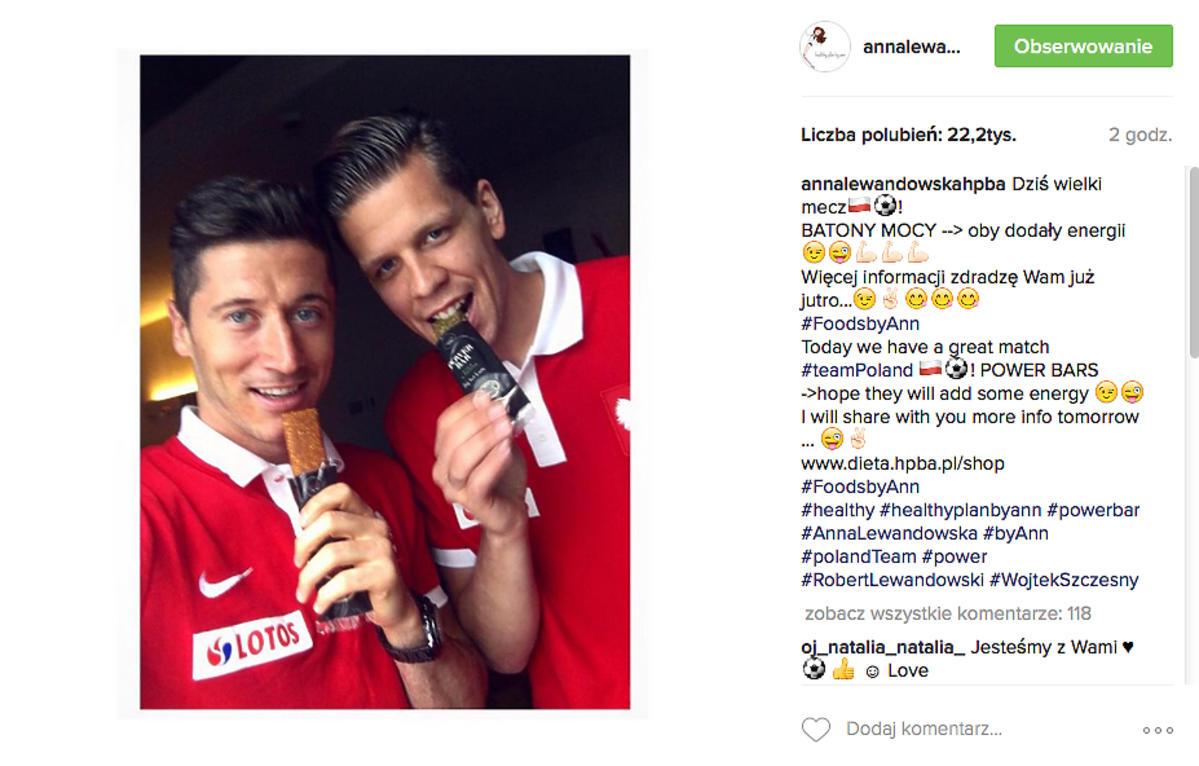 Robert Lewandowski, Wojciech Szczęśny przed meczem Polska-Szwajcaria