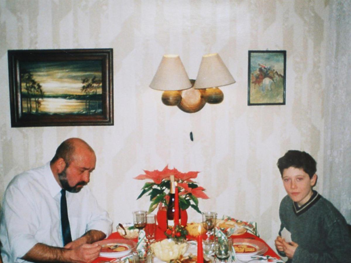 Robert Lewandowski z ojcem Krzysztofem Lewandowskim
