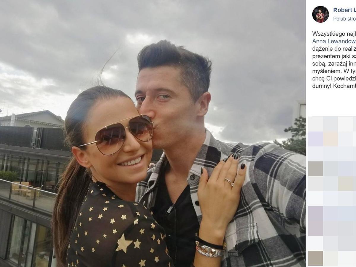 Robert Lewandowski złożył życzenia urodzinowe swoje żonie