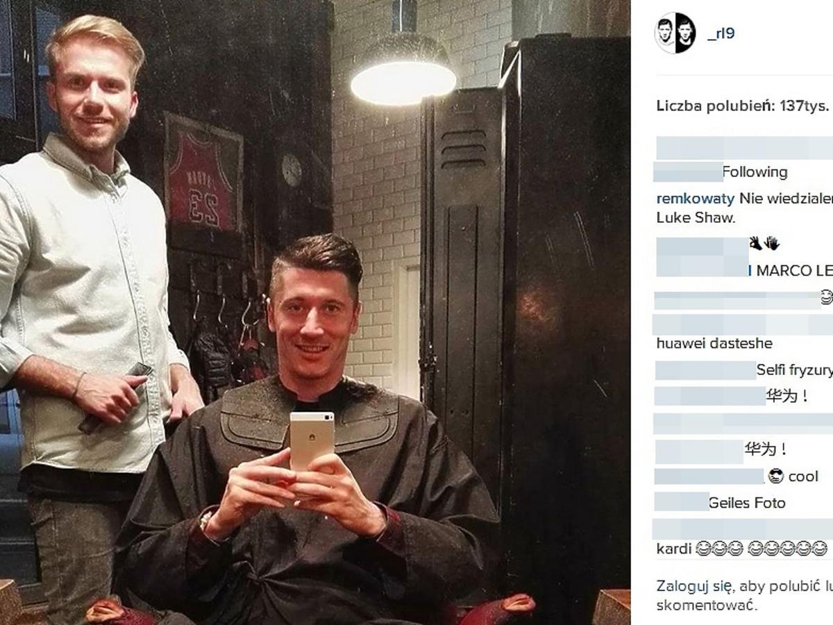 Robert Lewandowski zmienił fryzurę