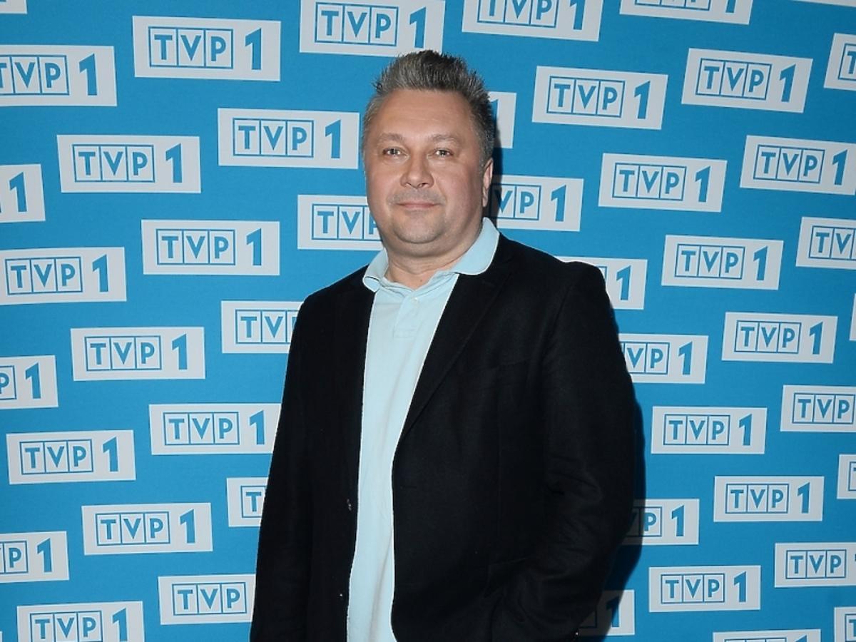 Robert Sowa na prezentacji ramówki TVP1