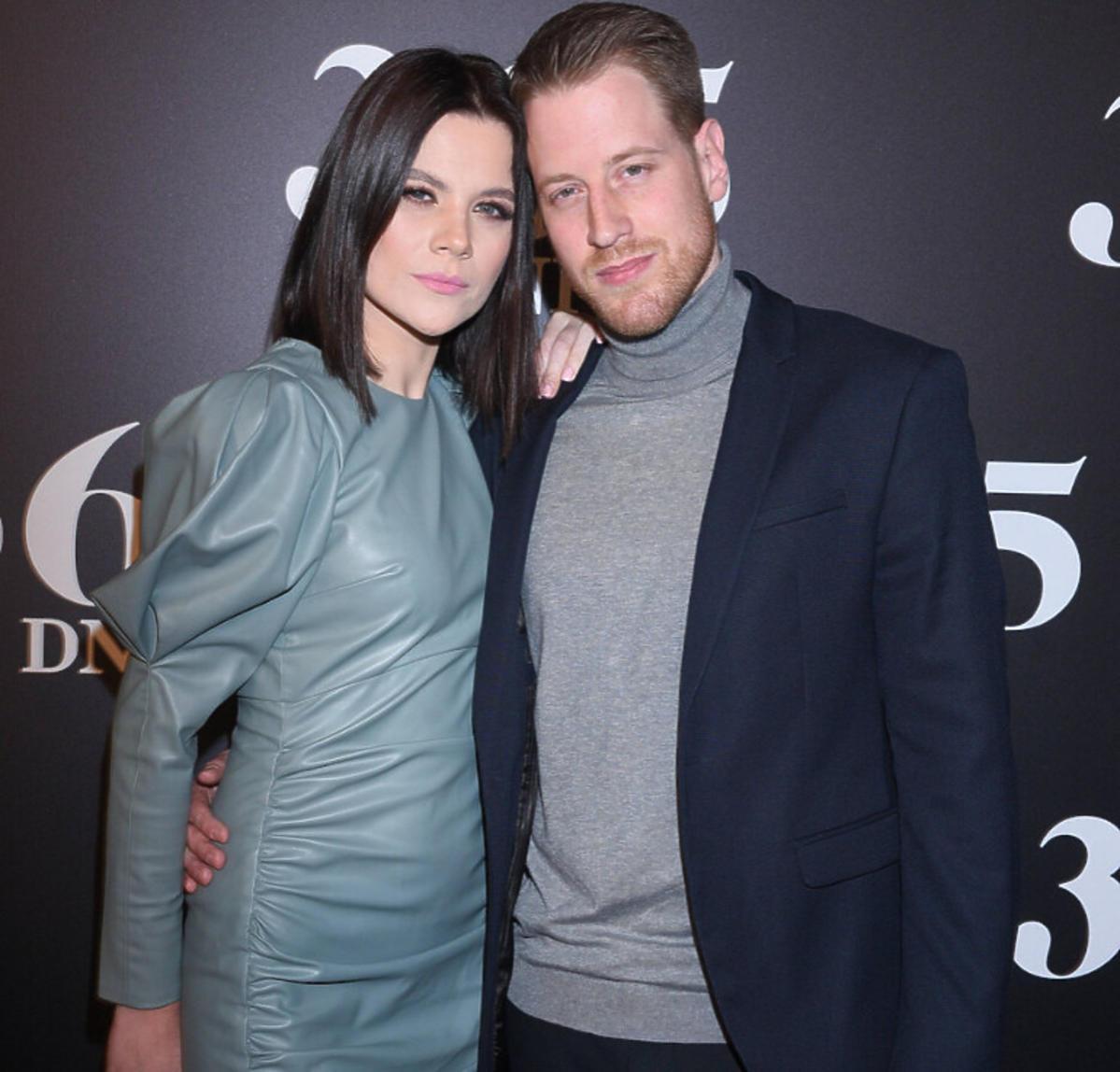 Robert Stockinger z żoną na premierze filmu