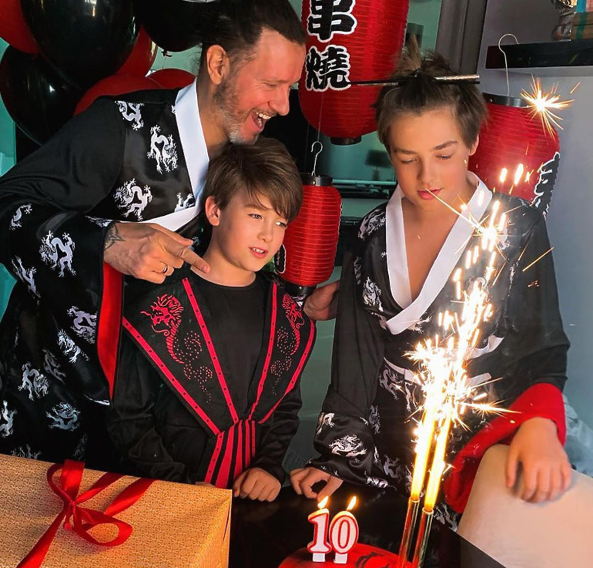 Rodzina Małgosi Rozenek w kimonach